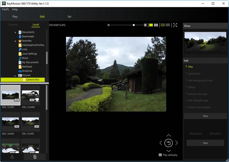 Trim | KeyMission 360/170 Utility Help | Nikon