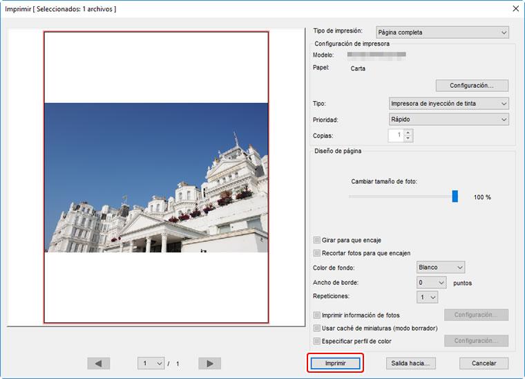 Impresión de imágenes | Ayuda Capture NX-D | Nikon