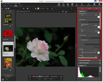 Step 6: Edit Still Images | ViewNX-i Help | Nikon