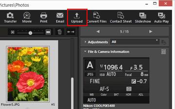 Uploading Images to Web Services | ViewNX-i Help | Nikon