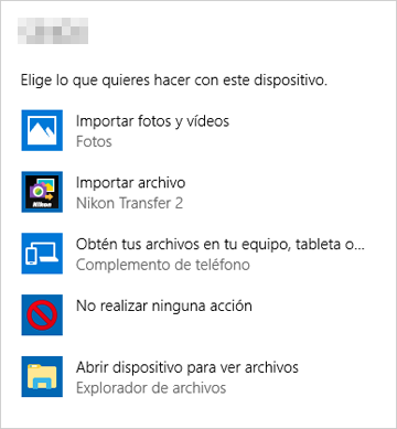 Starting nikon transfer 2 from device stage icon (windows 7.