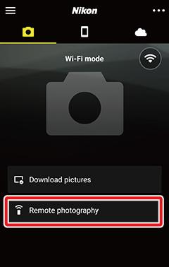 Taking Photos Remotely: Wi-Fi and Bluetooth | SnapBridge Help | Nikon