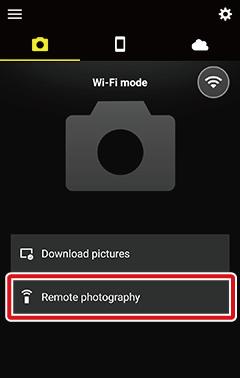 Taking Photos Remotely: Wi-Fi and Bluetooth | SnapBridge