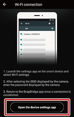 Direct Wi-Fi Connection | SnapBridge Help | Nikon